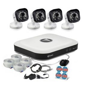 CCTV Systems: Swann DVR 8 5000 2TB Smart Security Alarm System 4 x HD Cameras ZigBee SwannOne Kit