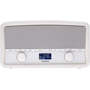 DAB Digital Radio: Goodmans Heritage Digital DAB+ & FM Radio with Bluetooth Streaming Piano White