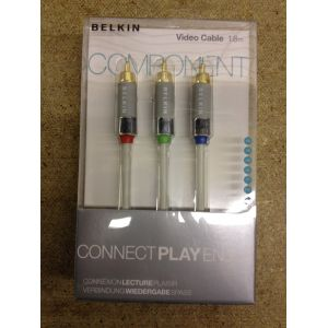 Belkin White Component HDTV Video Color Coded Cable 1.8m Gold Plated A...