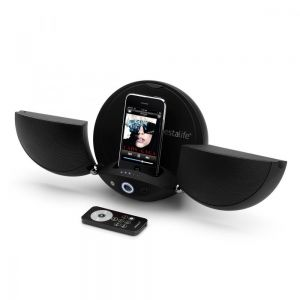 VestaLife LadyBug II Black Speaker Dock iPod iPhone + Aux In MP3 Players Mobiles