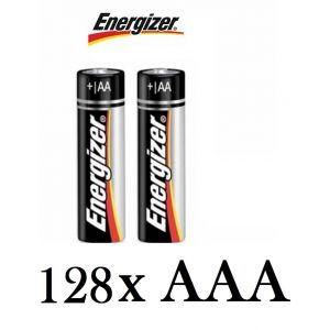 128 Pack Genuine Energizer AAA Alkaline Batteries 1.5V MN2400 LR03 Battery Cells