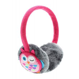 KitSound Audio Kids On-Ear Earmuffs Built In Headphones iPod iPhone Pink Owl