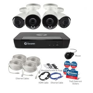 Swann NVR 8580 4K 8 Channel CCTV Security System 2TB 5MP Thermal 4x NHD-865 Camera kit