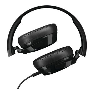 Headphones: Skullcandy RIFF On-Ear Wired Headphones with Mic Fordable Track Control - Black