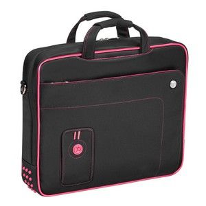 Laptop Accessories: Targus Ladies Urban Top Load Classic Laptop Case Fits Up to 15.4 inch Notebook Bag Black And Pink TST00401EU