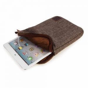iPad Accessories: Tuff-Luv Herringbone Tweed sleeve case cover 7 inch iPad Mini Samsung Galaxy Nexus Brown