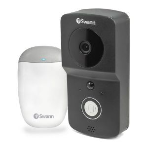 Swann DP720 HD 720P WiFi Wireless Smart Video Doorbell Rechargeable + Extra Chime Unit