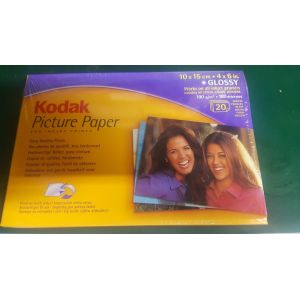 Printer Consumables: Kodak Glossy Picture Paper Inkjet Printers 20 sheets 10x15 cm 31 Packs Job Lot