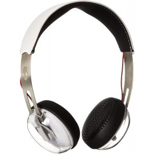 Headphones: Skullcandy GRIND Wired Headphones Headset Taptech one touch mic - White/Clear