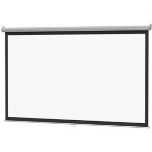 DA-LITE B 96X96 Manual Pull Down Projector Screen 96 inch Ceiling Wall Mount - White