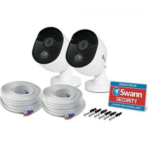 CCTV Cameras: Swann PRO-1080MSB Heat-Sensing 1080p 2.1mp HD Bullet CCTV Camera For 4575 4580 4550 4480 - TWIN PACK
