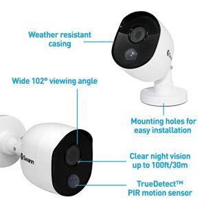 CCTV Cameras: Swann PRO-1080MSB Heat-Sensing 1080p 2.1mp HD Bullet CCTV Camera For 4575 4580 4550 4480 - 4 PACK