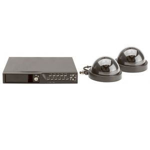 CCTV Systems: Friedland CWK6 Wired Colour Dome CCD Camera 4 Channel DVR CCTV Recoder Kit 80GB