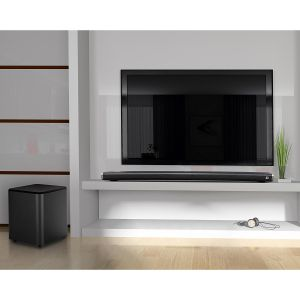 Sound & Vision: KitSound Encore Curved Soundbar With Wireless Subwoofer Home Cinema Bluetooth Speaker Black