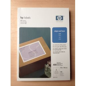 HP Address Label Paper / Sheets 105 x 148 A4 400 Qty 400 Labels...