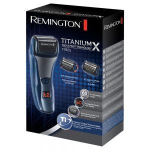 Remington F7805 Titanium-X Mens Cordless Rechargeable Washable Flex Foil Sh...