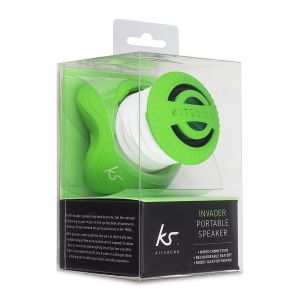 Speakers: Kitsound Invader Portable Rechargeable Mini Speaker iPod iPhone Tablets Green