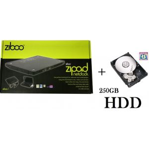 Ziboo Zipad Netbook USB Docking Station 250GB Laptop External Hard Drive + ...