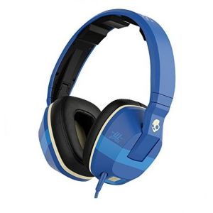 Headphones: SKULLCANDY CRUSHER Wired Headphones Mic Remote Supreme Sound Bass control - Royal Blue