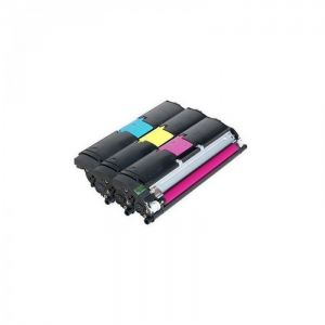 Printer Accessories: Genuine Konica Minolta Laser Printer Toner Cartridge Kit Triple Pack - Cyan Magenta Yellow