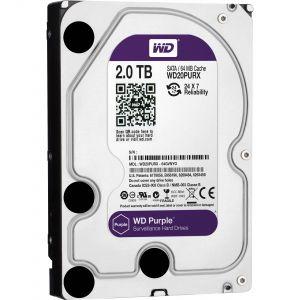 CCTV: Western Digital Purple 2TB WD20PURX 3.5 inch CCTV Surveillance Hard Drive SATA HDD