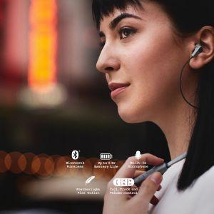 Headphones: SKULLCANDY INK'D Wireless Bluetooth In-Ear Headphones Mic Lightweight Upto 8 Hr Battery Life - Grey