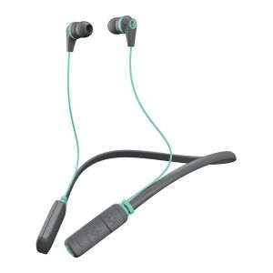 SKULLCANDY INK'D Wireless Bluetooth In-Ear Headphones Mic Lightweight Upto 8 Hr Battery Life - Grey/Green