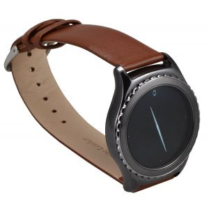 Gadgets & Gifts: Official Samsung Gear S2 Strap Classic Smartwatch Band Leather ET-SLR73 Brown
