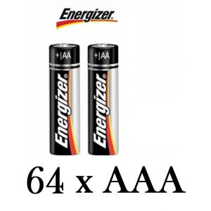 64 Pack Genuine Energizer AAA Alkaline Batteries 1.5V MN2400 LR03 Battery Cells