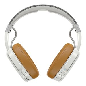 Headphones: SKULLCANDY CRUSHER Wireless Rechargeable Headphones Bluetooth Mic - Grey Tan