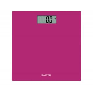 Weighing Scales: Salter Easy Read 9069PK3R Ultra Slim Glass Platform Electronic Bathroom Scale PK