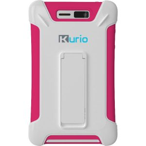 Tablet Accessories: Kurio Touch 4S Pocket Tough Case with Kick Stand Full Access Soft & Hard Shell - Pink