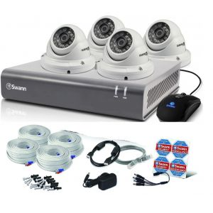 Swann DVR 4575 8 Channel 1TB HD Digital Video Recorder 4 x Pro-T854 1080p Dome Cameras CCTV Kit