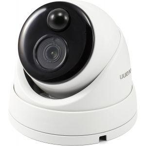 CCTV Cameras: Swann NHD-886MSD 4K Ultra HD Dome CCTV Camera PIR Heat Motion With Mic PoE NVR 8580