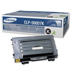 Printer Accessories: Original Genuine Samsung CLP-500D7K Black Toner Cartridge For Samsung 500/550 Printer