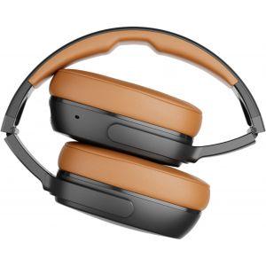 Headphones: Skullcandy Crusher 360 Bluetooth Wireless Headphones Limited edition - Black/Tan