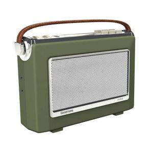 DAB Digital Radio: Goodmans OXFORD 2 DAB Plus Bluetooth NFC Digital FM RDS Radio Vintage Style Green