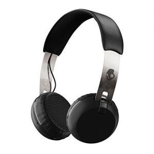 Skullcandy GRIND Wireless Headphones Headset Rechargeable Mic Aux 12Hr Battery - Black