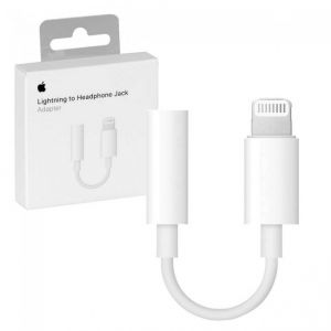 iphone Accessories: Genuine Official Apple Lightning to Headphone 3.5 mm Jack Adapter - MMX62ZM/A