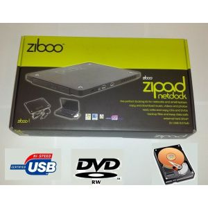 Ziboo Zipad USB Netbook Docking Station, External Hard-Drive DVD-rw caddy