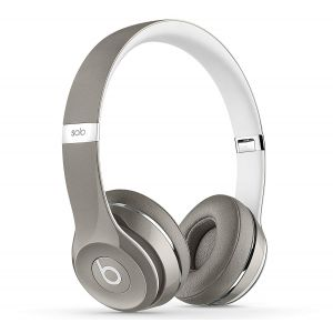 Genuine UK Stock Apple Beats by Dr. Dre Solo 2 Headphones Luxe Edition - Silver