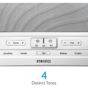 Health & Fitness: HoMedics HDS-1000 DEEP SLEEP SOUND THERAPY White Noise Machine 4 Distinct Tones