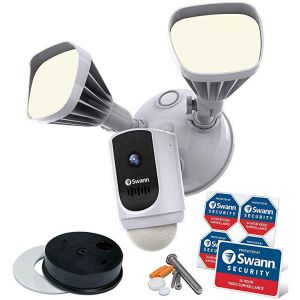 CCTV Cameras: Swann WiFi Series 1080p Floodlight Motion Lighting Security Camera System