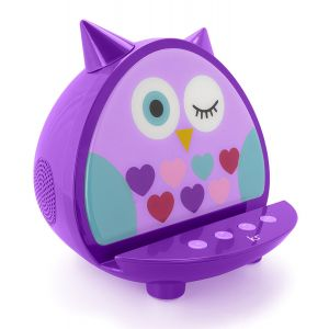 Sound & Vision: KitSound My Doodles Universal Character Dock Wireless Bluetooth Speaker For Smartphones iPod iPad Purple Owl