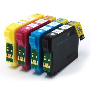 Epson Compatible: BigInks Compatible Epson T1285 4 Ink Slimline Combo Pack