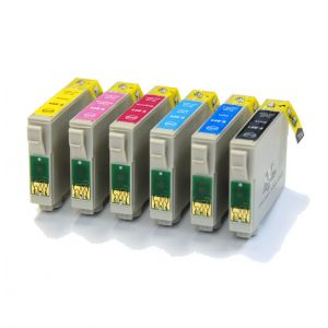Epson Compatible: BigInks Compatible Epson T0807 6 Ink Slimline Combo Pack