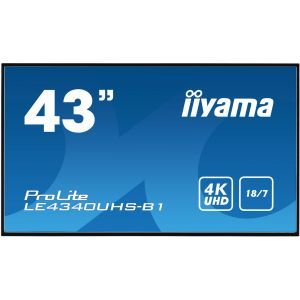 IIYAMA ProLite Display Monitor LE4340UHS-B1 43 inch 4K UHD Signage Screen with Speakers