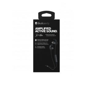 Headphones:  SKULLCANDY Jib+ Active Wireless Rechargeable Bluetooth Earphones 8H Battery Mic - Black