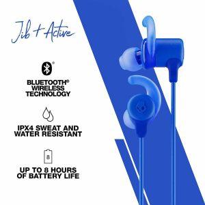 Headphones:  SKULLCANDY Jib+ Active Wireless Rechargeable Bluetooth Earphones 8H Battery Mic - Blue