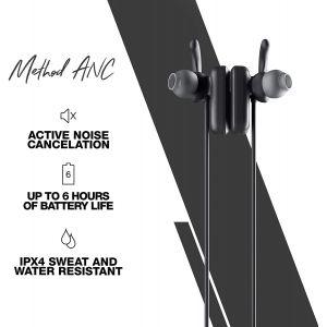 Headphones: Skullcandy Method ANC Wireless Magnetic Earbuds In-Ear Bluetooth Mic Tile 6 Hr Battery - Black